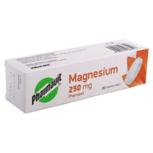 MAGNESIUM 250 MG PHARMAVIT 250MG šumivá tableta 20