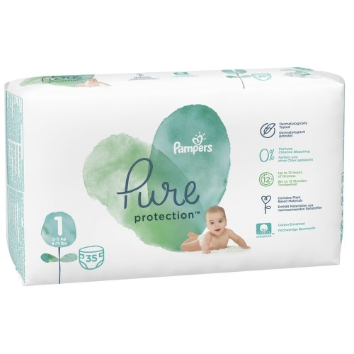 Pampers Pure protection S1 35ks