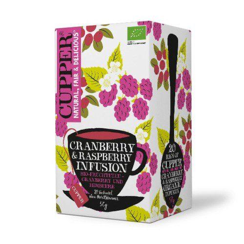 Cupper BIO čaj Cranberry & Raspberry 20 n.s.