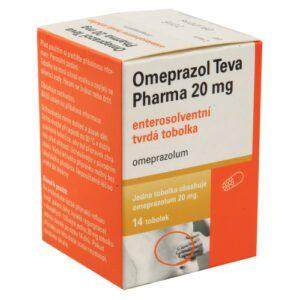 OMEPRAZOL TEVA PHARMA 20MG enterosolventní tvrdé tobolky 14