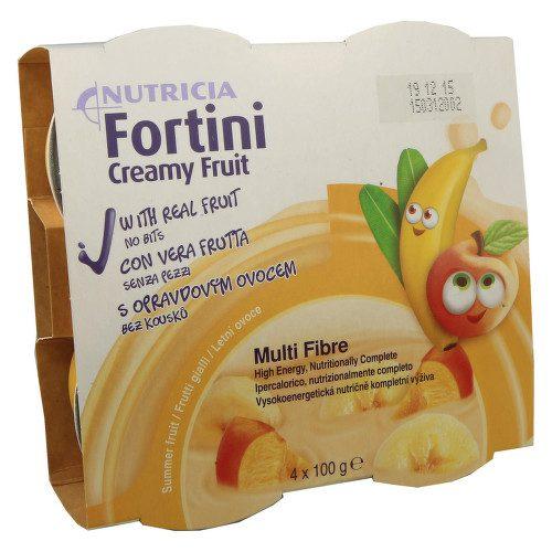 FORTINI CREAMY FRUIT MULTI FIBRE LETNÍ OVOCE perorální SOL 4X100G
