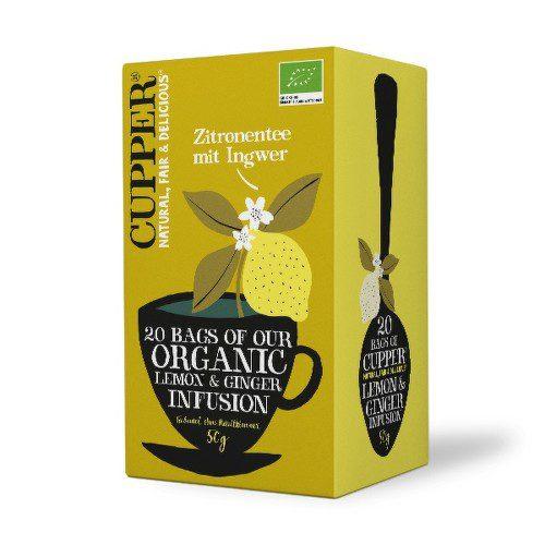 Cupper BIO čaj Lemon & Ginger 20 n.s.