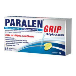 PARALEN GRIP CHŘIPKA A KAŠEL 500MG/15MG/5MG potahované tablety 12
