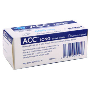 ACC LONG 600MG šumivé tablety 10