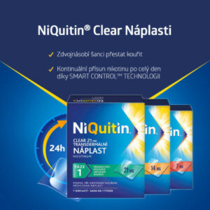 NIQUITIN CLEAR 21 MG 21MG/24H transdermální EMP 7