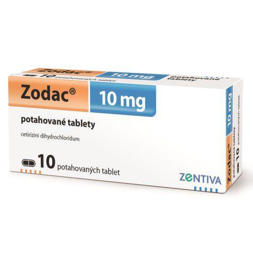 ZODAC 10MG potahované tablety 10