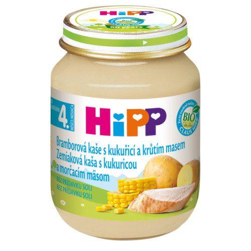 HiPP BABY BIO Br.pyré s kukuřicí a krůtím 125g C-78
