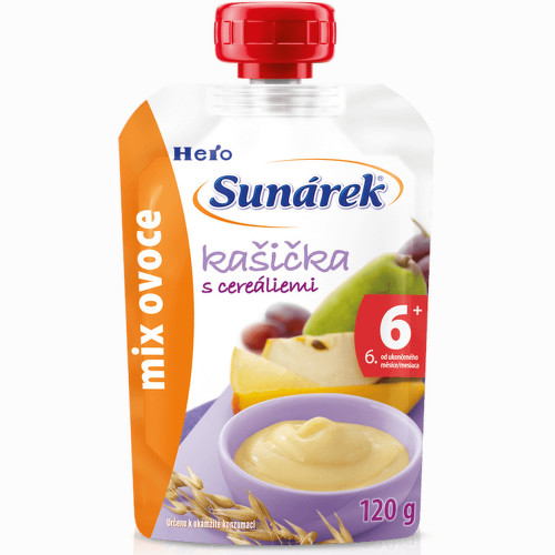 Sunárek kašička mix ovoce 120g C-178