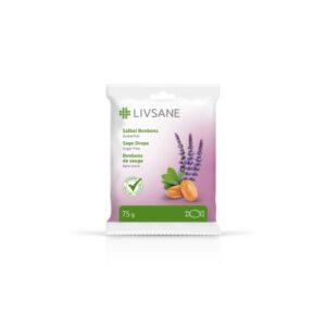 LIVSANE Bonbóny bylinné s vitaminy šalvěj 75g