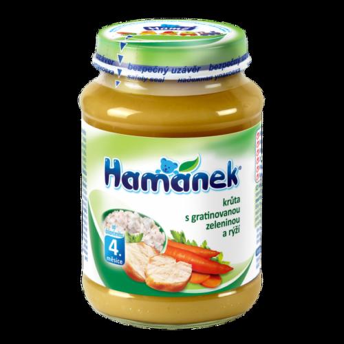 Hamánek krůta s gratin.zeleninou a rýží 190g 6M C-148