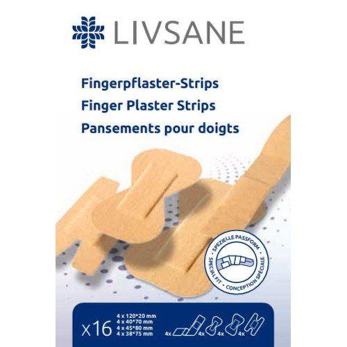LIVSANE náplast na prsty proužky 16ks