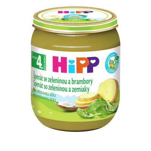 HiPP ZELENINA BIO Špenát se zelen. a brambory 125g C-112