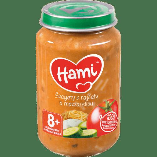 Hami příkrm špagety s rajčaty a mozzarelou 200g 8M C-33
