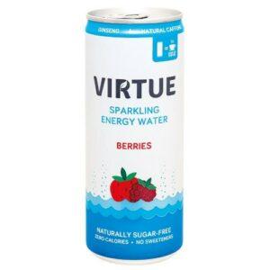 Virtue energetická sycená voda Lesní plody 250ml